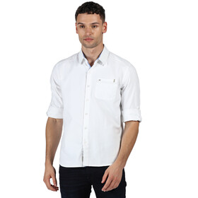 Regatta Banning T-shirt Manches longues Homme, white oxford